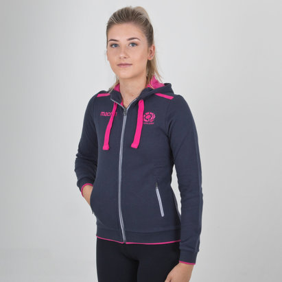 Macron Scotland 2018/19 Ladies Cotton Hooded Rugby Sweat