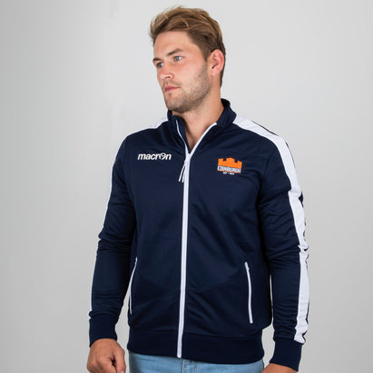 Macron Edinburgh 2018/19 Players Full Zip Rugby Anthem Jacket
