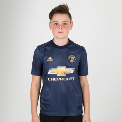 adidas Manchester United 18/19 3rd Kids S/S Replica Football Shirt
