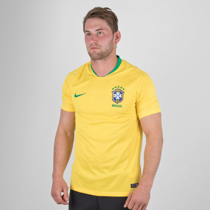 Nike Brazil 2018 Home S/S Stadium Football Shirt