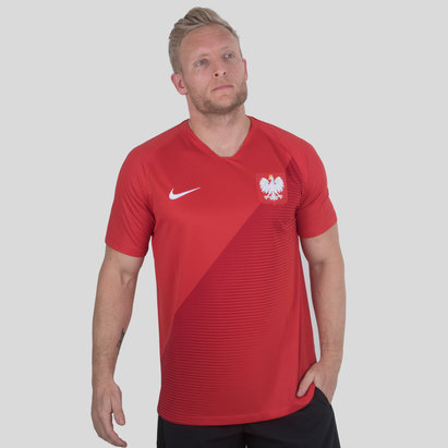 Nike Poland 2018 Away S/S Stadium Football Shirt
