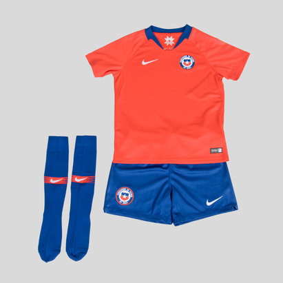 Nike Chile 2018 Home Mini Kids Replica Football Kit