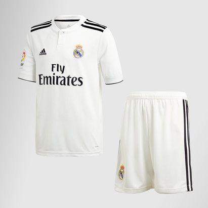 adidas Real Madrid 18/19 Home Kids S/S Football Kit