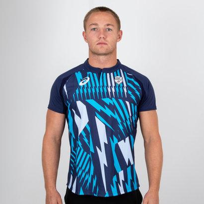 Asics Stade Francais 2018/19 Home S/S Rugby Shirt