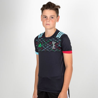 adidas Harlequins 2018/19 Kids Performance Rugby T-Shirt