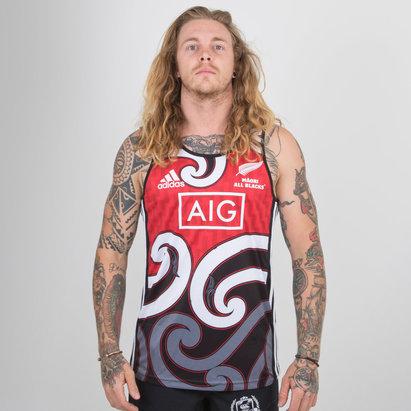adidas New Zealand Maori All Blacks 2018/19 Rugby Training Singlet