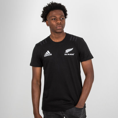 adidas New Zealand All Blacks 2018 Cotton Rugby T-Shirt