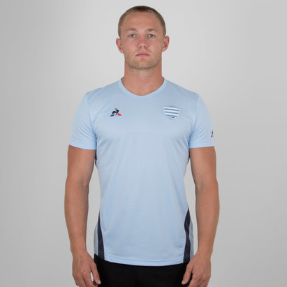 Le Coq Sportif Racing 92 2018/19 Players Rugby Training T-Shirt