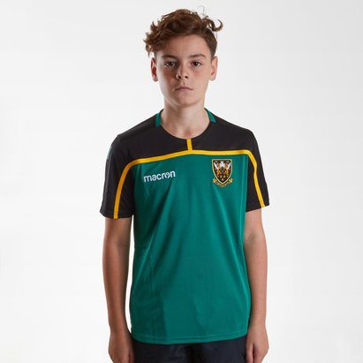 Macron Northampton Saints 2018/19 Kids Rugby Training T-Shirt
