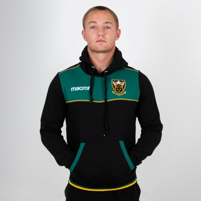 Macron Northampton Saints 2018/19 Travel Cotton Hooded Rugby Sweat