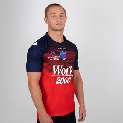 Kappa FC Grenoble 2018/19 Alternate S/S Replica Rugby Shirt