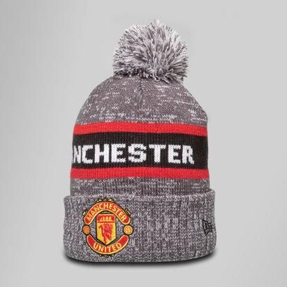 New Era Manchester United Marl Jake Knit Bobble Football Beanie