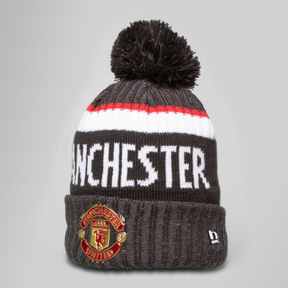 New Era Manchester United Marl Jake Knit Bobble Football Beanie