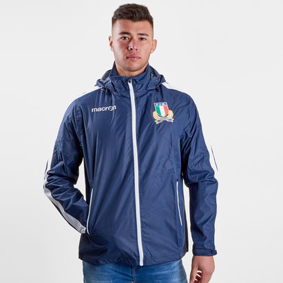 Macron Italy 2018/19 Players Full Zip Shower Jacket