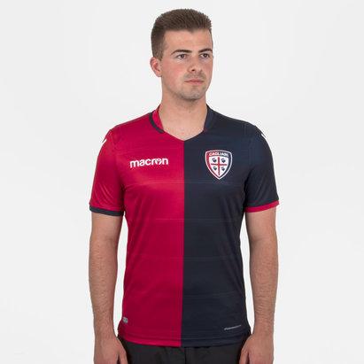 Macron Cagliari Calcio 18/19 Home S/S Football Shirt