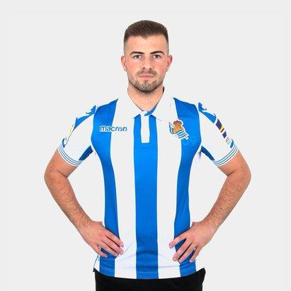 Macron Real Sociedad 18/19 Home S/S Football Shirt