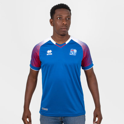 Errea Iceland 2018 Home S/S Football Shirt