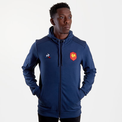 Le Coq Sportif France 2018/19 Presentation Full Zip Hooded Rugby Sweat