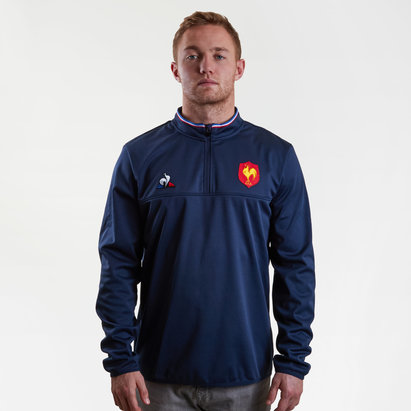 Le Coq Sportif France 2018/19 1/2 Zip Rugby Training Top