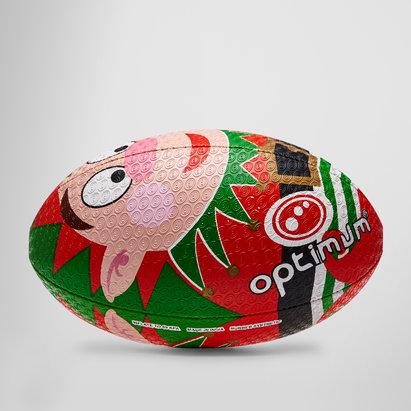 Optimum Christmas Elf Rugby Training Ball