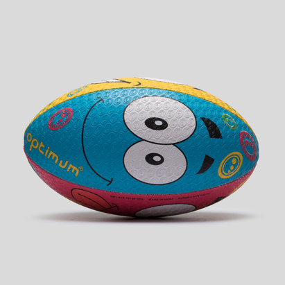 Optimum Emoji Cartoon Training Rugby Ball