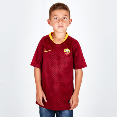 Nike AS Roma 18/19 Home Kids S/S Replica Football Shirt