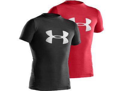 Under Armour HeatGear Junior Compression Big Logo Short Sleeve T Shirt