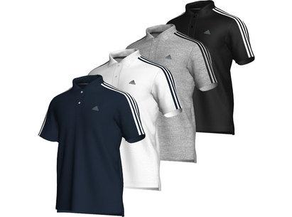 adidas Essentials 3 Stripe Core Mens Polo Shirt