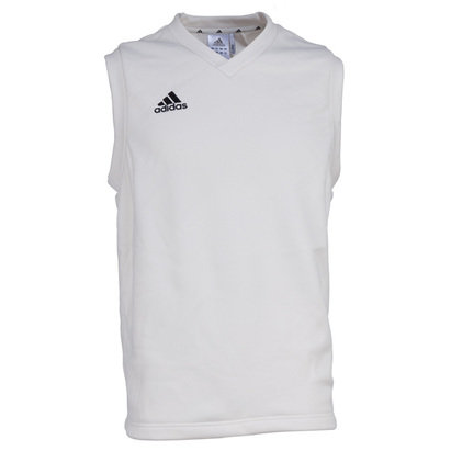 adidas Sleeveless Junior Cricket Jumper
