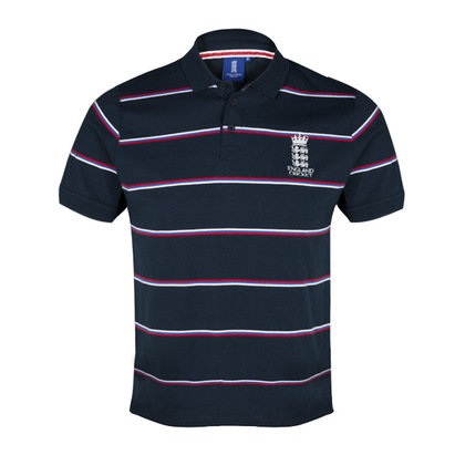 England Cricket Classic Jersey Striped Polo
