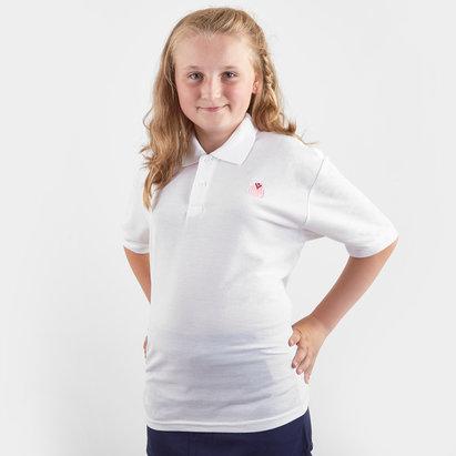 HeartNetball Girls Blush Polo Shirt