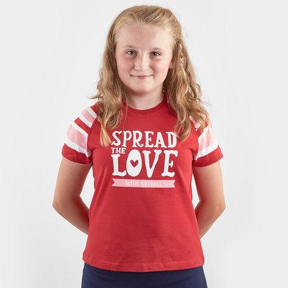 HeartNetball Girls Scarlet T Shirt