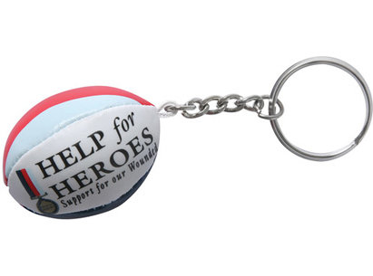 Gilbert Help For Heroes Rugby Ball Keyring