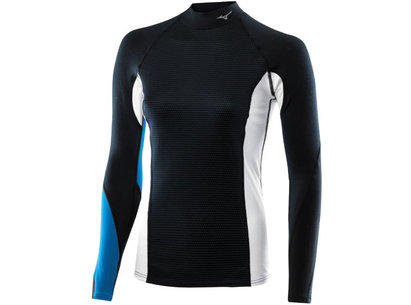 Mizuno Womens Breath Thermo Dynamotion High Neck Baselayer Top
