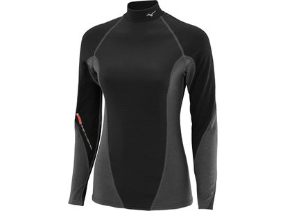 Mizuno Womens Breath Thermo Virtual Body High Neck Baselayer Top