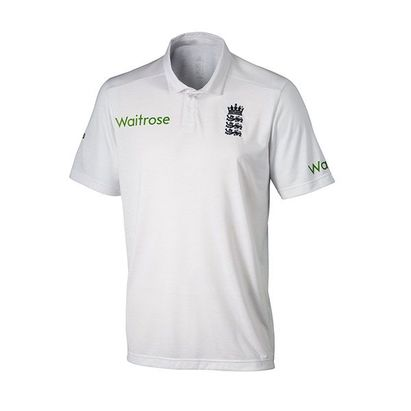 adidas England Cricket TEST Replica Junior Cricket Shirt