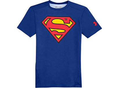 Under Armour HeatGear Mens Alter Ego Compression Short Sleeve Top - Superman