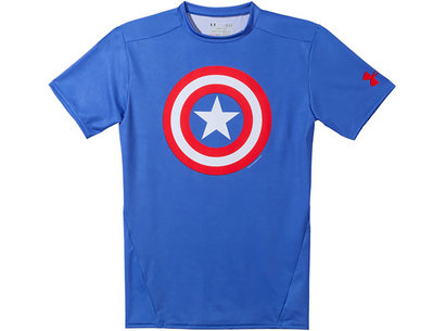 Under Armour HeatGear Mens Alter Ego Compression Short Sleeve Top - Captain America