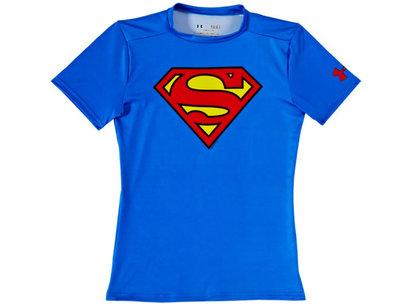 Under Armour HeatGear Junior Alter Ego Compression Short Sleeve Top - Superman