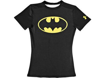Under Armour HeatGear Junior Alter Ego Compression Short Sleeve Top - Batman