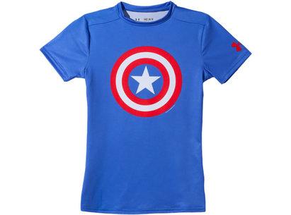 Under Armour HeatGear Junior Alter Ego Compression Short Sleeve Top - Captain America