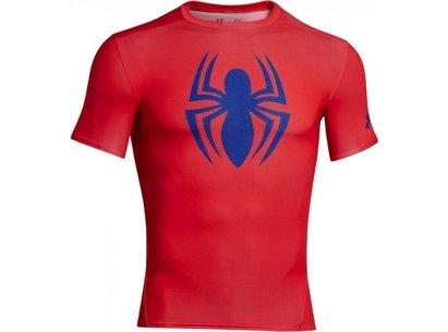 Under Armour HeatGear Junior Alter Ego Compression Short Sleeve Top - Spiderman