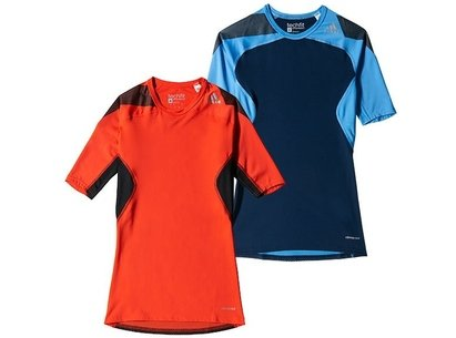 adidas Mens Techfit COOL Mid Compression SS15 Short Sleeve Top