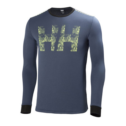 Helly Hansen ACTIVE Flow Mens Graphic Long Sleeve Baselayer Top