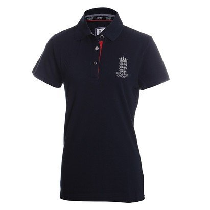 England Cricket Classic Womens Pique Polo Shirt