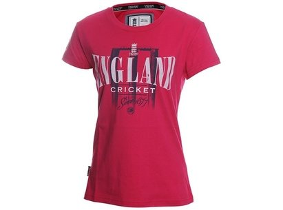 England Cricket Classic Stumps Logo Womens T-Shirt