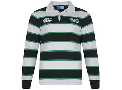 RWC15 Hoop Stripe L/S Rugby Shirt - Senior