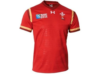 Under Armour Wales RWC15 WRU Supporters Home Junior Rugby Shirt