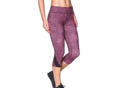 Under Armour Training Womens HeatGear Take A Chance Printed Capri Tights Q4 15