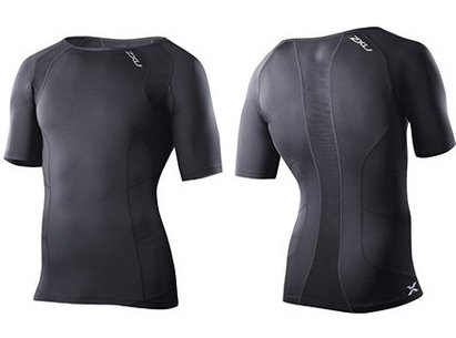 2XU Mens Compression Short Sleeve Top